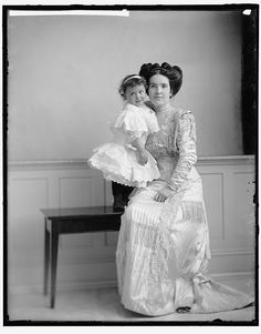 """COREA, INDIA BELL. WITH BABY"" Photo by Harris & Ewing,  [between 1905 and 1945].  Harris & Ewing Collection, Library of Congress Prints and Photographs Division."