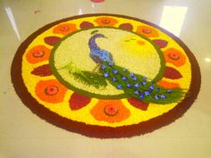#Peacock #NationalBird #Athapu #flowerDesign #Onam #Random Design #Kerala
