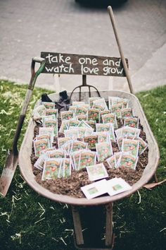 This is an amazing adorably cheap wedding favour. A must for an outdoor wedding.