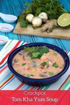 Paleo Crockpot Tom Kha Yum Soup. Thai soup that is better than take ...