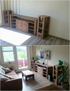 Simple and Easy Projects to Recycle Old Wood Pallets: Old wood pallets will show out your home corners with the impressive impressions only when you will be making the use of it in perfect blends. Pallet Furniture Plans, Recycled Furniture, Old Pallets, Recycled Pallets, Decoration Piece, Beautiful Decoration, Pallet Ideas, Pallet Wood, Easy Projects