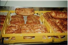 Freshly baked bread from Adamson's Cake kitchen, Invercargill NZ. (photo taken Freshly Baked, Bread Baking, Family History, Bakery, Kitchen, Food, Bread Making, Cooking, Meal