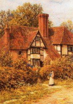 Manor House, Kent (Helen Allingham - No dates listed)