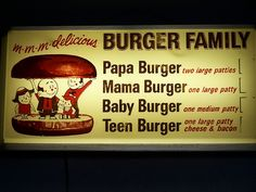 A burger family...loved A! Loved the frosty mug og root beer. The stuff at the grocery store just isn't the same!