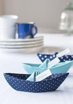 DIY folded fabric boat