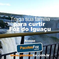Foz do Iguaçu é a cidade perfeita para as férias em família. Com passeios incríveis e inesquecíveis o município surpreende todos os seus visitantes com roteiros mágicos e momento únicos. Aproveite para curtir ainda mais todo o encanto da Terra das Cataratas com os descontos do Pacotes Foz. São excelentes opções com até 70% de desconto. Faça seu cadastro em nosso site e aproveite o melhor da tríplice fronteira com o Pacotes Foz.  www.pacotesfoz.com.br