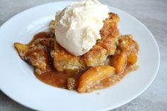 Peach Cobbler Recipe Desserts with peaches, brown sugar, cinnamon, vanilla…