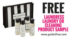 Get a FREE Laundress Laundry or Cleaning Product Sample! Sign up for their newsletter and they will send you a Free Sample. Shape up and ship out! We'll help you kick-start your clean routine with your choice of a Signature Detergent, Delicate Wash, Sport Detergent or All-Purpose Bleach Alternative* sample while supplies last.
