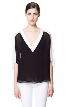 COMBINED BLOUSE - Stock clearance - Woman - Sale | ZARA United States