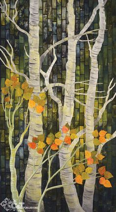 "quilt from the book ""radiant landscapes"" by gloria loughman"