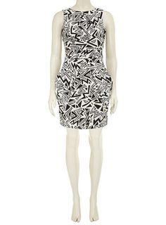 Black/white  print dress