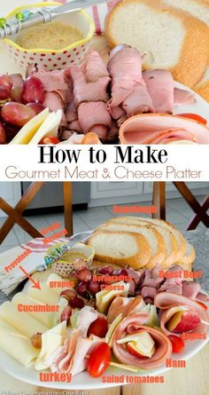 How to make a meat and cheese platter from Four Generations One Roof brought to you by our friends at Dietz & Watson. Meat Appetizers, Appetizer Recipes, Salad Recipes, Meat Cheese Platters, Food Platters, Healthy Eating Recipes, Cooking Recipes, Great Recipes, Recipe Ideas
