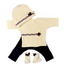 Preemie/Newborn baby girl clothing set