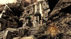 Markarth from The Elder Scrolls V: Skyrim | 36 Beautiful Landscapes That Prove That Video Games Are Art // screenshot with an enb maybe?