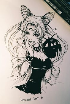 Black Lady for #inktober. More