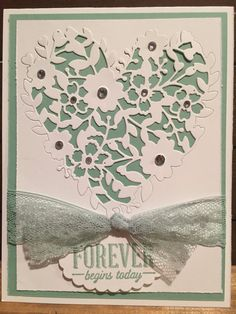 Stampin Up Bloomin' Love Bloomin' Heart by DarlenesStampinSpot