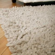 Assemble your fabric remnants into a cozy shag rug.