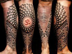 red and black geometric tattoos - Google Search