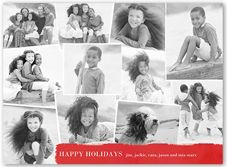 Flat Premium Stock 4 Photo Christmas Cards & Christmas Greeting Cards | Shutterfly