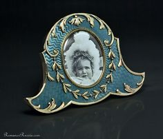 Faberge Aqua Picture Frame 1908-1917, by workmaster Andrei Gorianov. ndrei Gerasimovich Gorianov (Gurjanov)* took over Wilhelm Reimer's workshop at Morskaia St. 11/6  upon Reimer's death in 1898. He worked independently and supplied Faberge primarily with small enameled picture frames and jewelry.