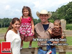 Outstanding Young Farm Family finalists the Walker family of Lauderdale County.