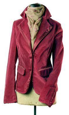 """Prettiest Velvet"" raspberry pink blazer from Victorian Trading Co."