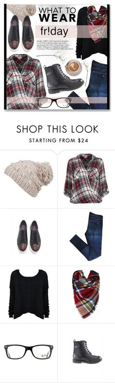 """""""Friday Style!"""" by artemisia-art ❤ liked on Polyvore featuring prAna, River Island, rag & bone, Alice + Olivia, Ray-Ban, Hera and Crate and Barrel"""