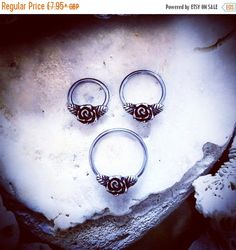 20% OFF ON SALE Rose Blossom Silver Ring  Flower by ThrowBackAnnie