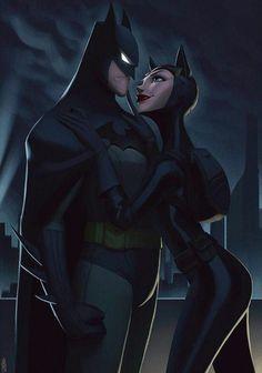 Batman & catwoman artwork by Artist Leandor Franci - Robin. Batgirl, Batman And Catwoman, Nightwing, Batman Painting, Batman Artwork, Batman Drawing, Batman Love, Im Batman, Batman Stuff