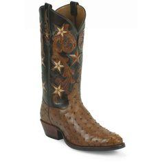 Tony Lama Men's Cowboy Classic Ostrich Western Boots