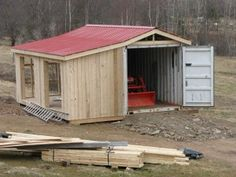 Are you looking for 12 X 16 shed plans? Do you want to build a new shed such as the understand how to build it or what to do? Would you like a whole new styled shed as opposed to the same one as everyone else in your area? Do you want a shed that […] Building A Container Home, Container Cabin, Container Buildings, Container House Design, Container Homes, Container Shop, Shipping Container Workshop, Shipping Container House Plans, Shipping Containers