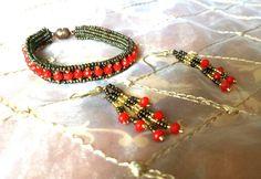 My work bracelet&earring