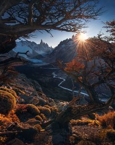 Beautiful landscape with Cerro Torre and Cerro Fitz Roy in background, La Majestuosa Patagonia Chile-Argentina Beautiful World, Beautiful Places, Beautiful Pictures, Patagonia, Landscape Photography, Nature Photography, Travel Photography, Mountain Photography, Amazing Nature