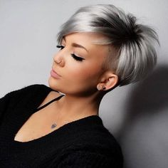 Hair Growth Tips. Hair Care Tips That Will Help You Out. Anyone can have great hair. There are lots of different things you have to overcome in order to get the best looking hair. Short Grey Hair, Short Straight Hair, Short Hair Cuts, Short Hair Styles, Natural Hair Styles, Short Silver Hair, Really Short Hair, Wig Styles, Trending Hairstyles