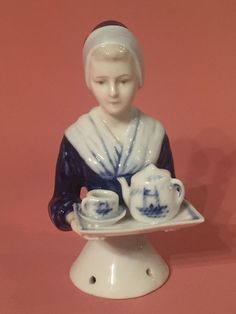 HALF-DOLL/DEMI-FIGURINE/BUSTE PORCELAINE/TEEPUPPE/W.GOEBEL/CHOCOLATE LADY