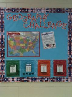 geography bulletin board ideas   Geography Challenge (I'm a BIG fan of interactive bulletin boards)