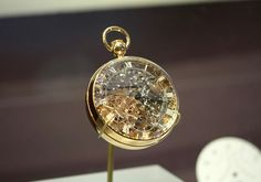 The most expensive pocket watch in the world made for Marie Antoinette   It's self winding, has a minute repeater, perpetual calendar, equation of time, jumping hour, power reserve indicator, and a bimetallic thermometer