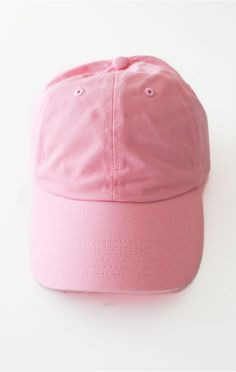 fce18070a03 Description Details  Six panel plain baseball cap in pink with adjustable  back with tri