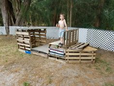 Pirate ship fort made from a few pallets.
