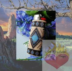 Beaded Lighter CoverSouthwestern by Outoftheflames on Etsy, $45.00