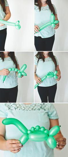 Cómo hacer un dinosaurio con 1 globo ✿⊱╮
