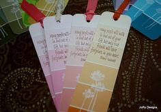 For our Buckeye Blogger get together I made these bookmarks  from paint chips the ones from ACE work the best!   I cut them 2 x either 7 or...