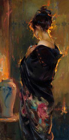 Fine art oil paintings - Daniel Gerhartz - - Fine art oil paintings – Daniel Gerhartz A*R*T. Figurative Kunst, L'art Du Portrait, Portrait Tattoos, Art Du Monde, Figure Painting, Contemporary Paintings, Aesthetic Art, Painting Inspiration, Female Art