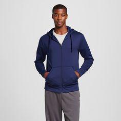 Men's Tech Fleece Full Zip Hoodie Dark Blue XL - C9 Champion, Dark Night Blue