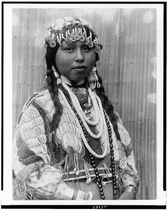 Wishham bride – Tlakluit – c1910 Photograph by Edward S. Curtis via The Library of Congress