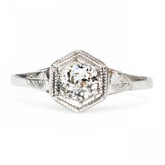 Vintage Solitaire Engagement Ring | Order Black River