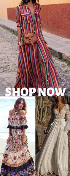 "Love the dress on the bottom right. & the left . Top is a no - Love the dress on the bottom right. & the left …maybe? Top is a no "" Love the dress on the bott - Boho Fashion, Spring Fashion, Fashion Dresses, Afro Chic, Look Boho Chic, Bohemian Style Clothing, Bohemian Hair, Hippie Hair, Mode Boho"
