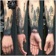 Get Thousands of Unique and Free Forest Tattoos, Designs, Ideas and Images. Feel Free To Save And Share Forest Tattoo Pictures With Your Friends. Forest Tattoo Sleeve, Tree Tattoo Arm, Nature Tattoo Sleeve, Tattoo Henna, Full Sleeve Tattoo Design, Forest Tattoos, Full Sleeve Tattoos, Forearm Tattoo Men, Tattoo Wolf