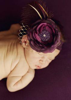 Vintage Headband, Couture Headband, Photo Prop, Flapper Headband, Baby Headband