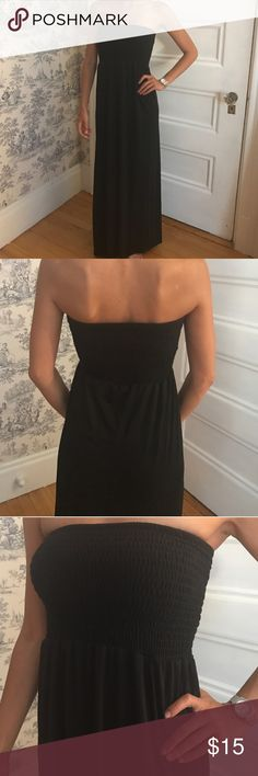Black Maxi Dress Like new, basic black maxi dress size S...Happy to provide specific measurements upon request! Thank you! 🌷 Dresses Maxi
